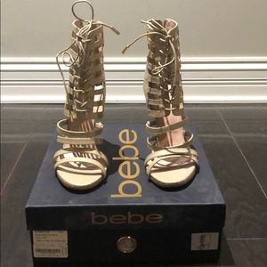 Sexy and Adorable Bebe sandal heels!